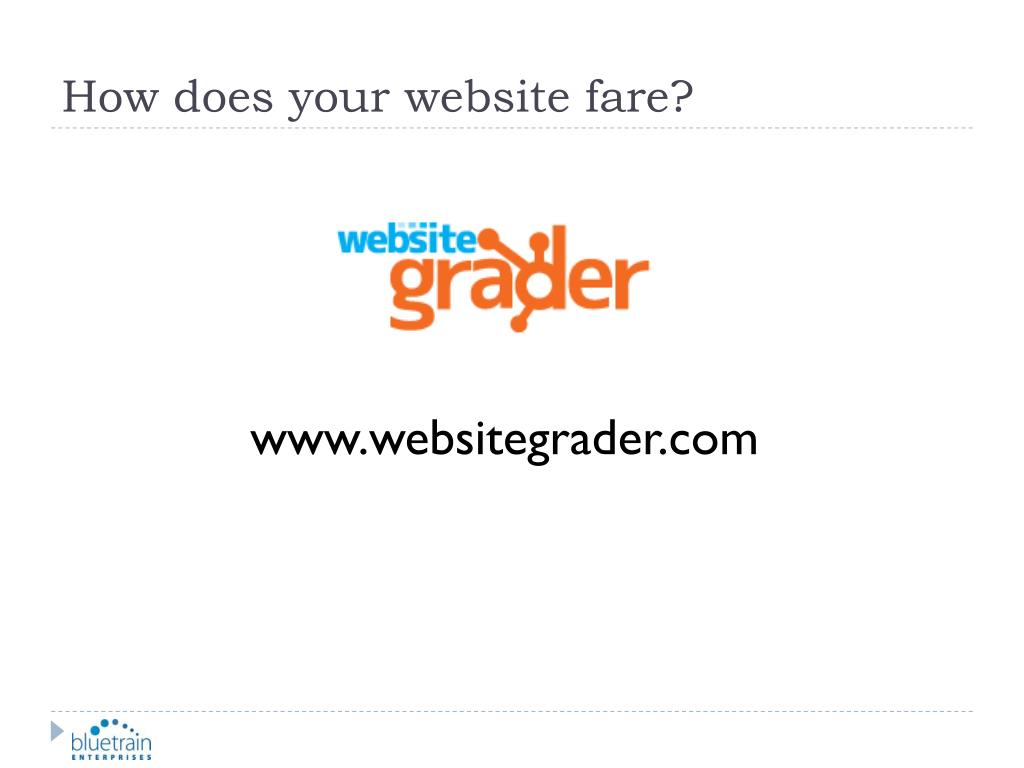 How does your website fare?