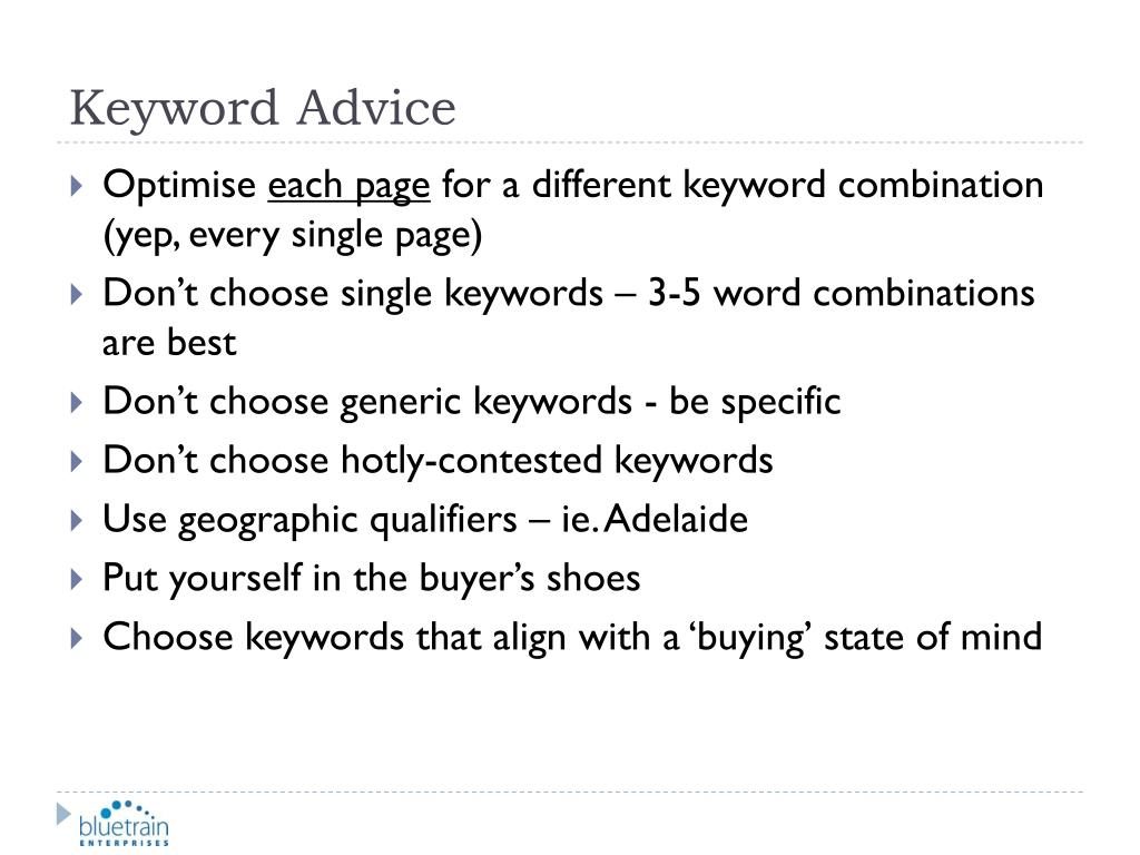 Keyword Advice