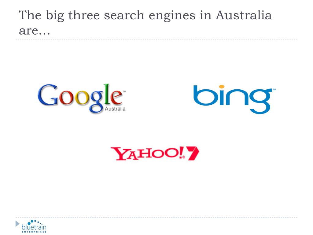 The big three search engines in Australia are…