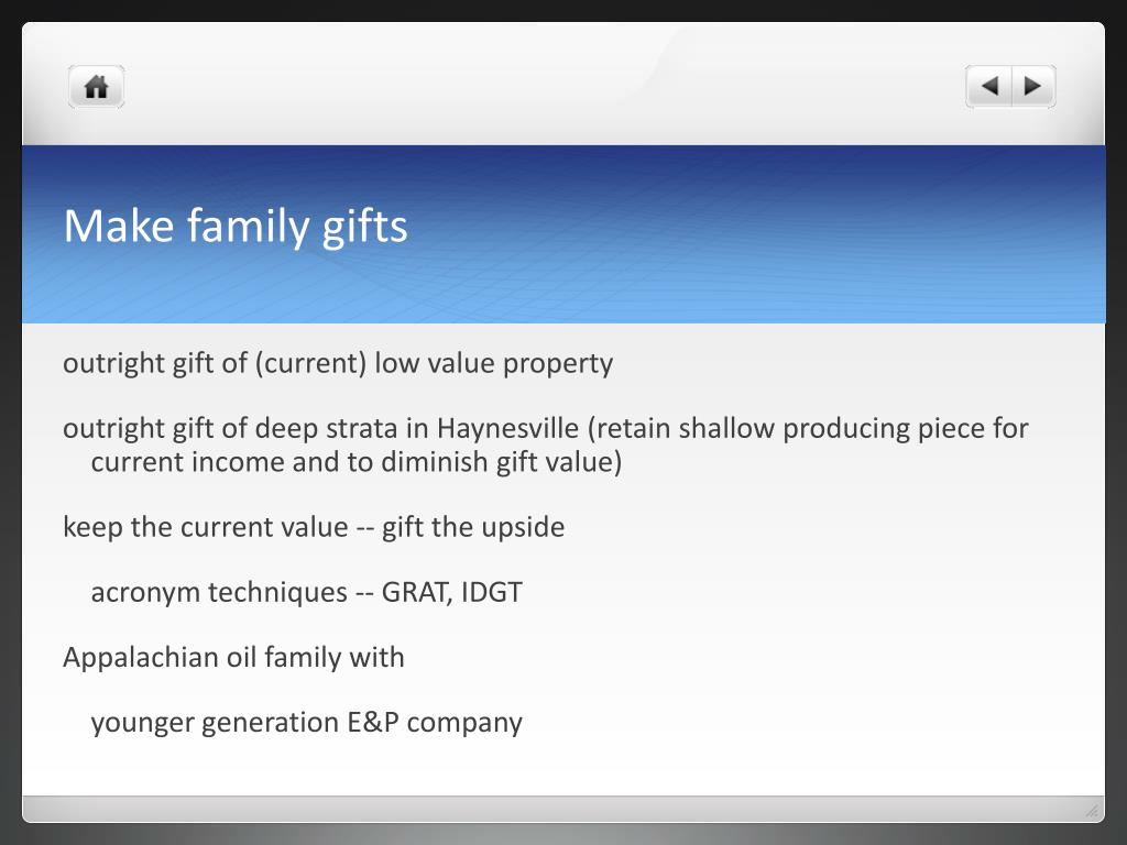Make family gifts