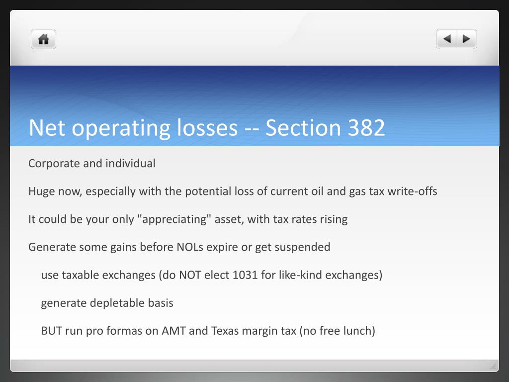 Net operating losses -- Section 382