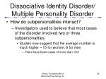 dissociative identity disorder multiple personality disorder39