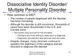 dissociative identity disorder multiple personality disorder43