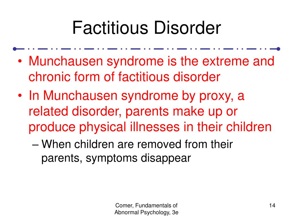 Factitious Disorder