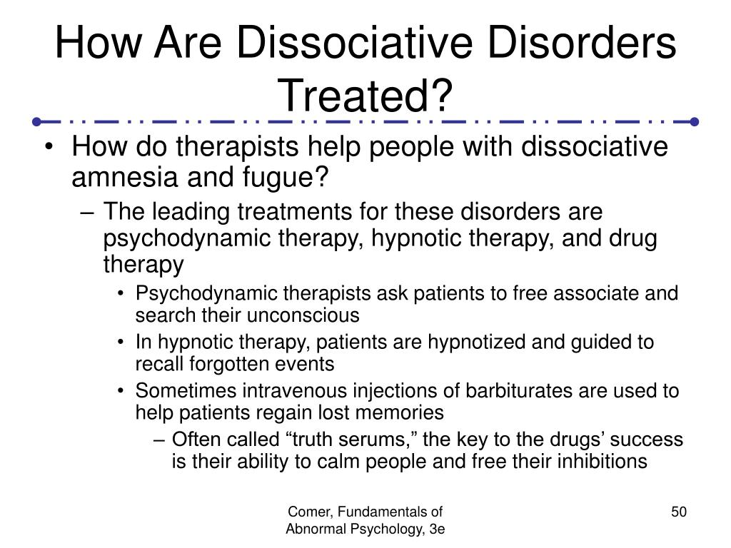 How Are Dissociative Disorders Treated?