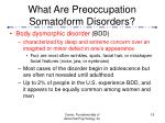 what are preoccupation somatoform disorders19