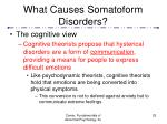 what causes somatoform disorders25