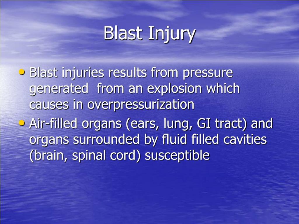 Blast Injury