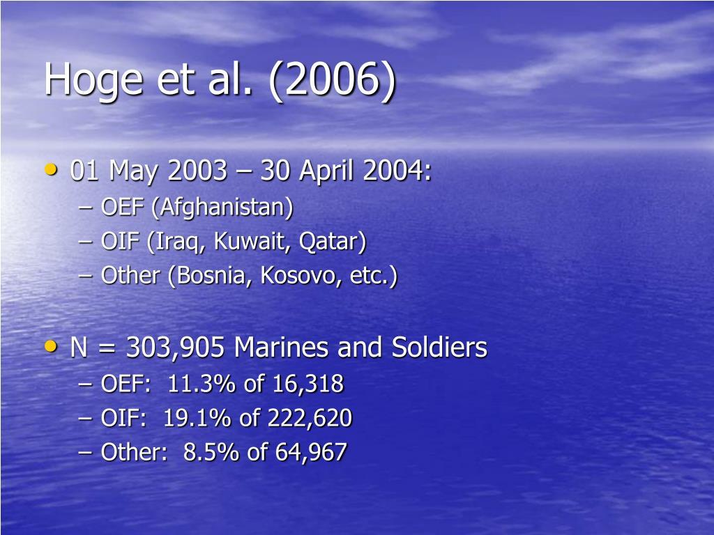 Hoge et al. (2006)
