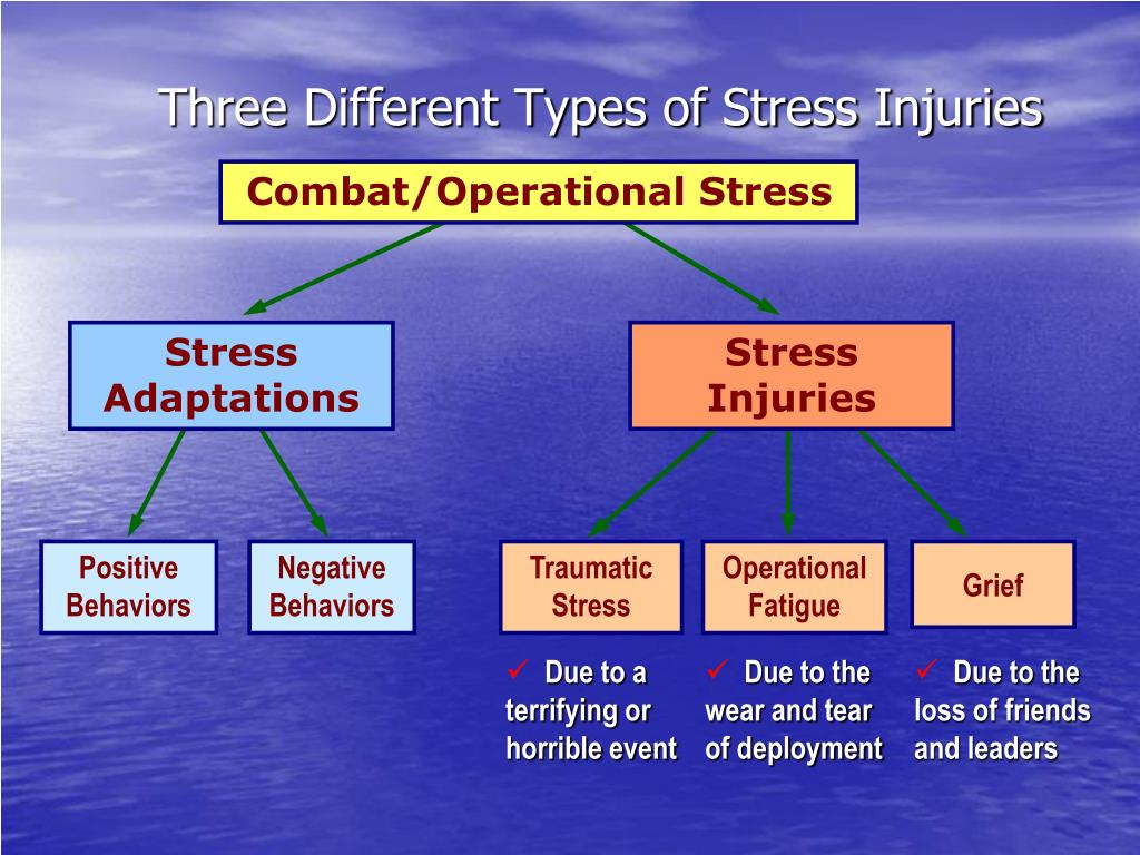 Three Different Types of Stress Injuries