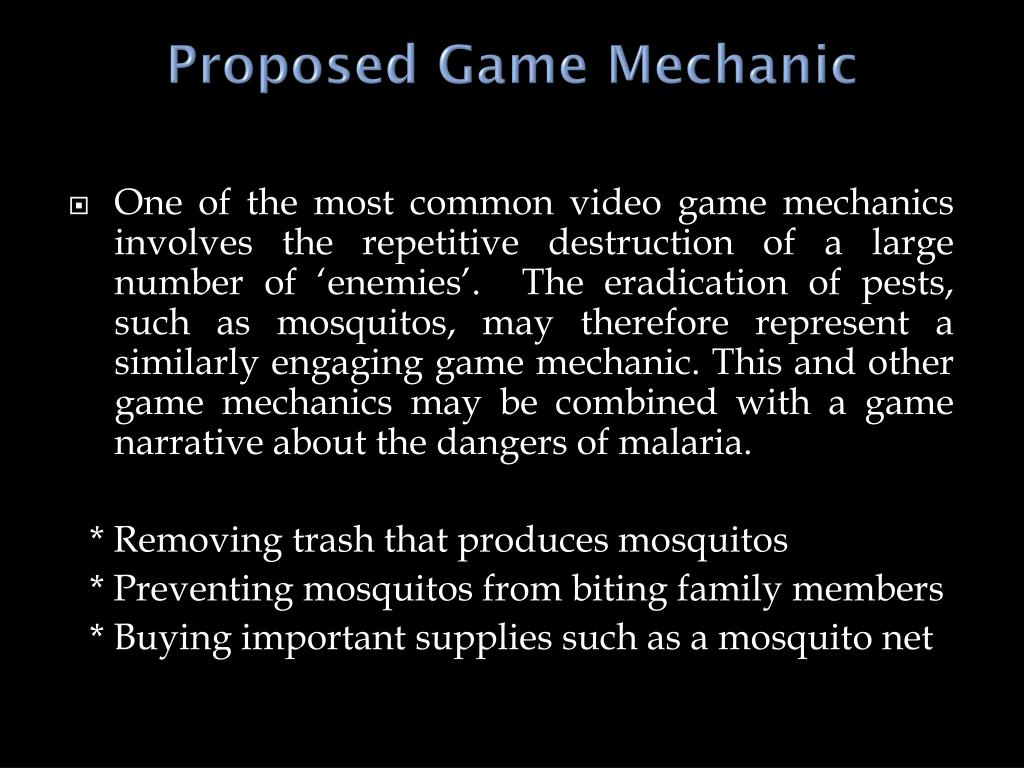 Proposed Game Mechanic