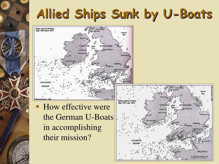 Allied Ships Sunk by U-Boats