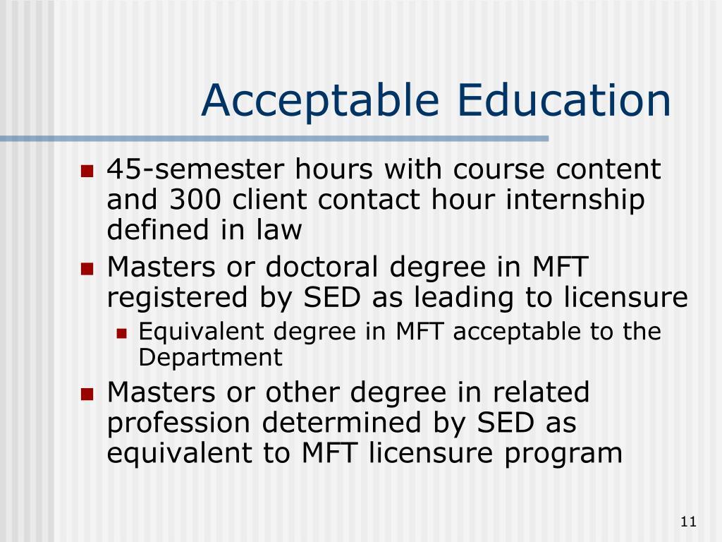 Acceptable Education