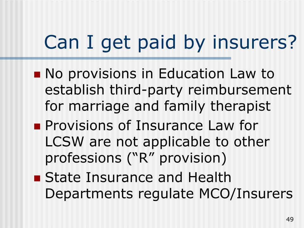 Can I get paid by insurers?