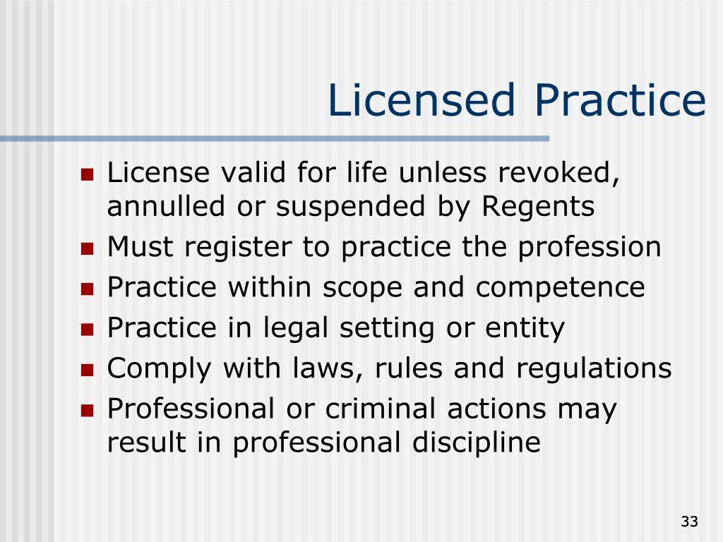 Licensed Practice