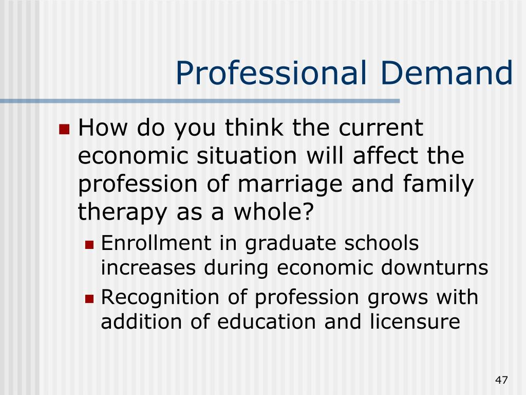Professional Demand