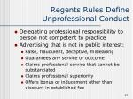 regents rules define unprofessional conduct27