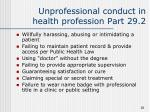 unprofessional conduct in health profession part 29 2