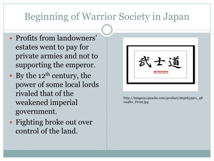 Beginning of Warrior Society in Japan