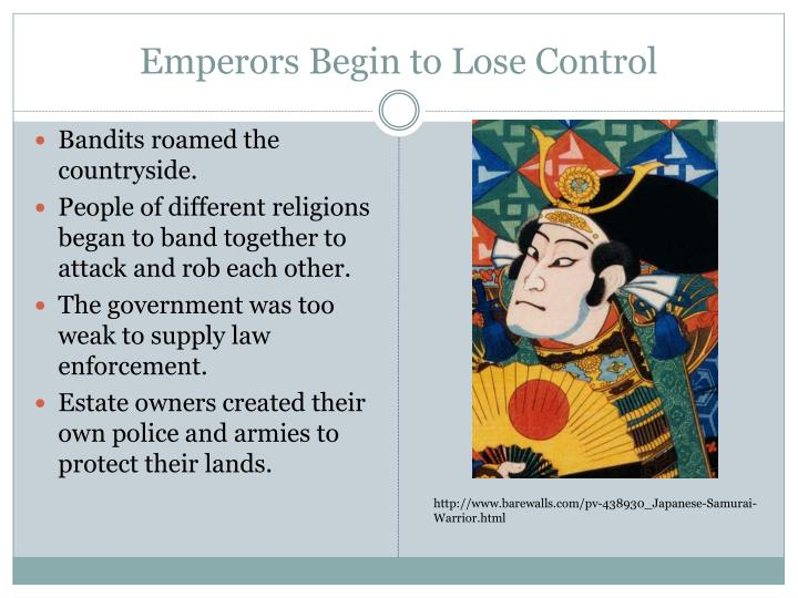 Emperors Begin to Lose Control