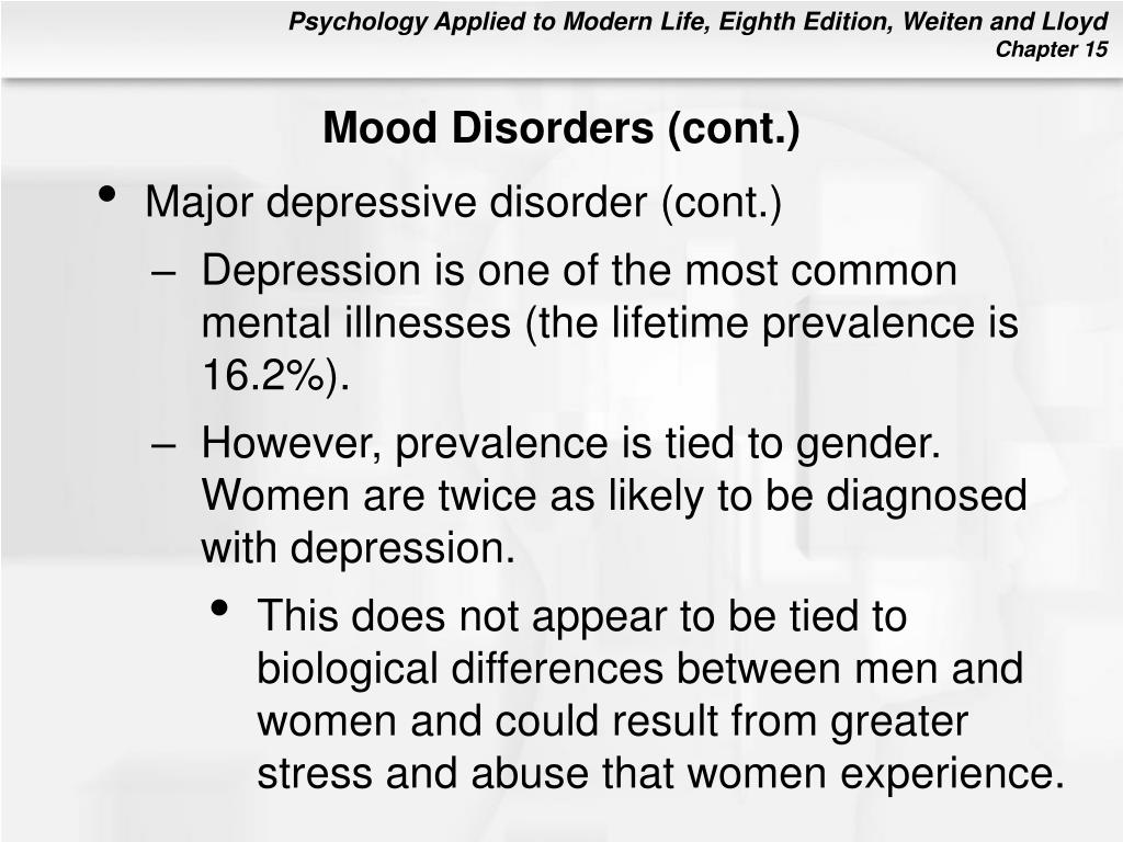 Mood Disorders (cont.)