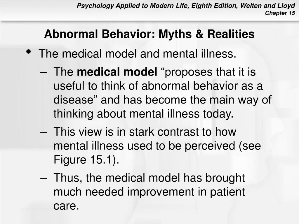 Abnormal Behavior: Myths & Realities