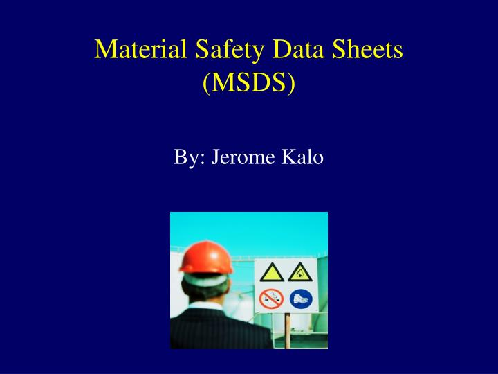 Material safety data sheets msds l.jpg