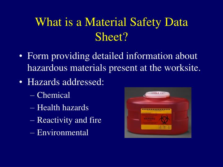 What is a material safety data sheet l.jpg