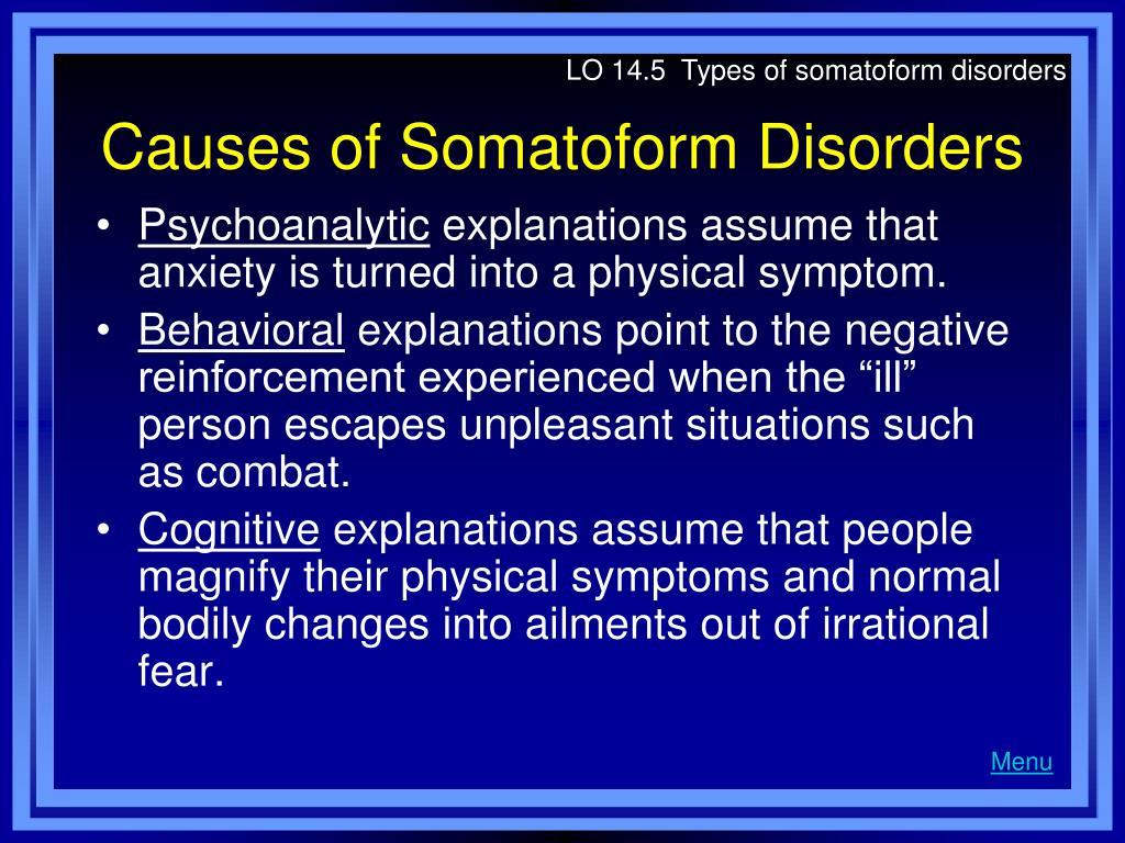 LO 14.5  Types of somatoform disorders