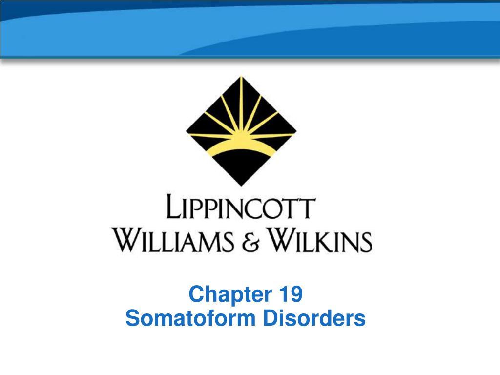 chapter 19 somatoform disorders