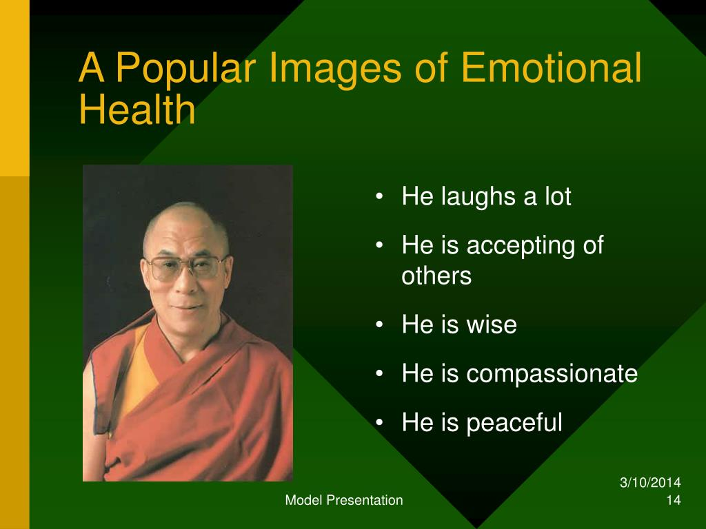 A Popular Images of Emotional Health