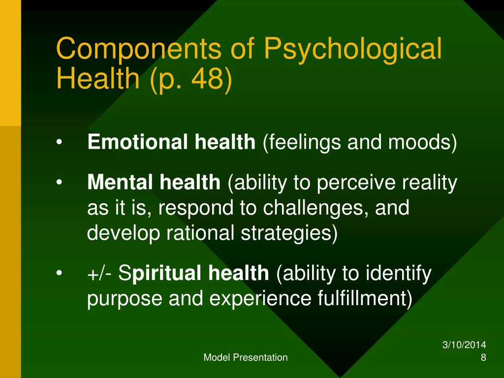 Components of Psychological Health (p. 48)