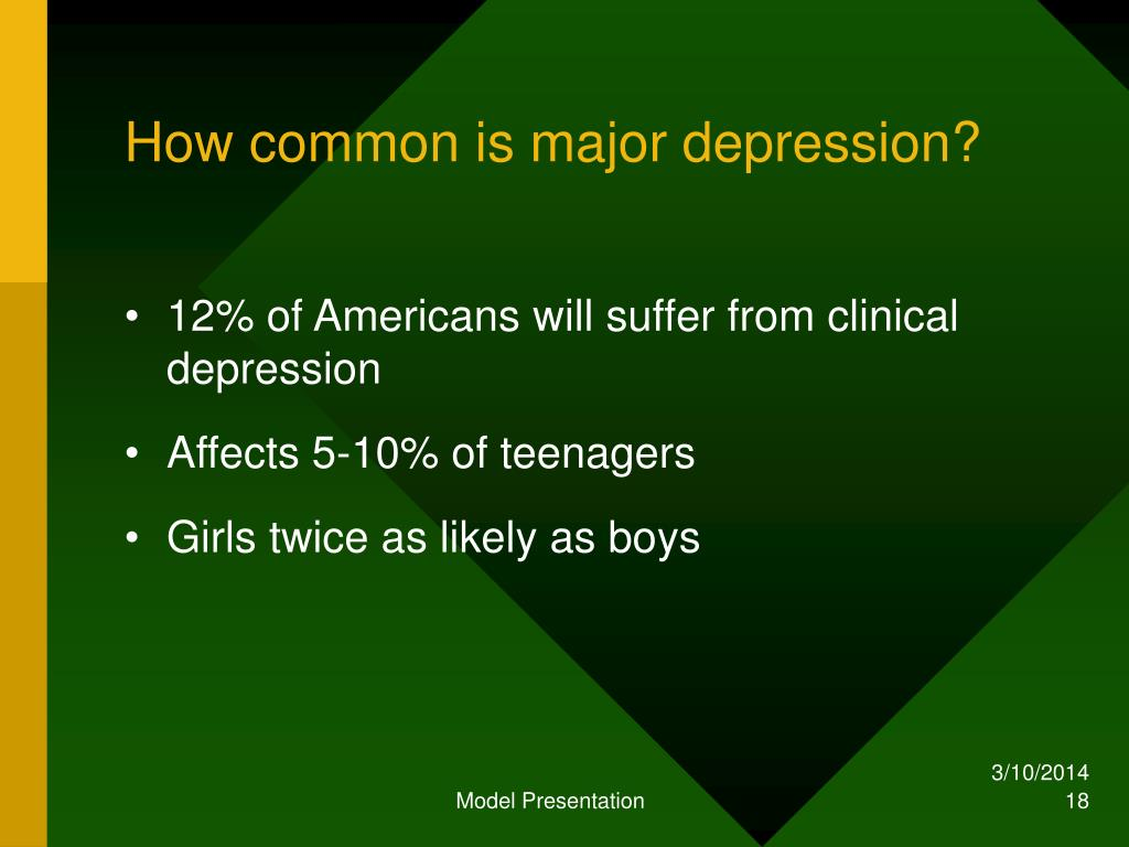 How common is major depression?