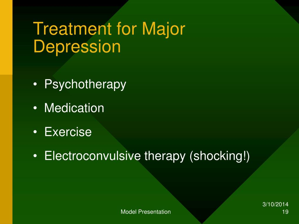 Treatment for Major Depression