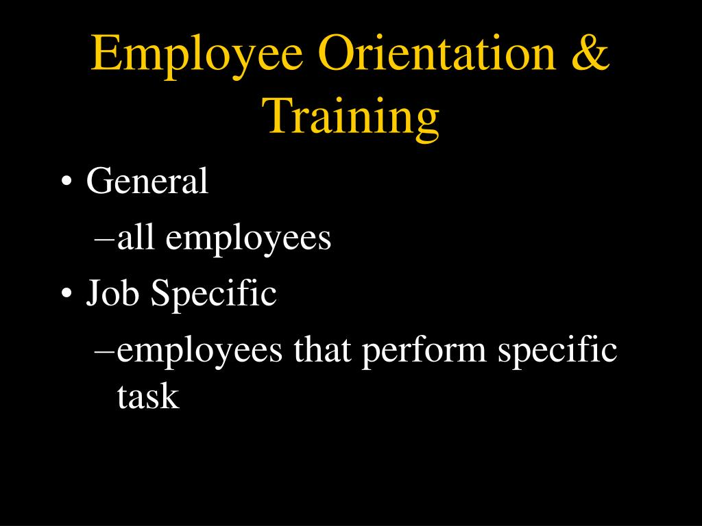 Employee Orientation & Training