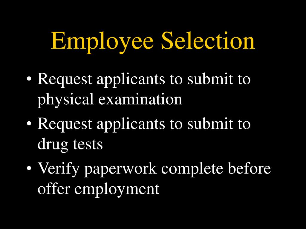 Employee Selection