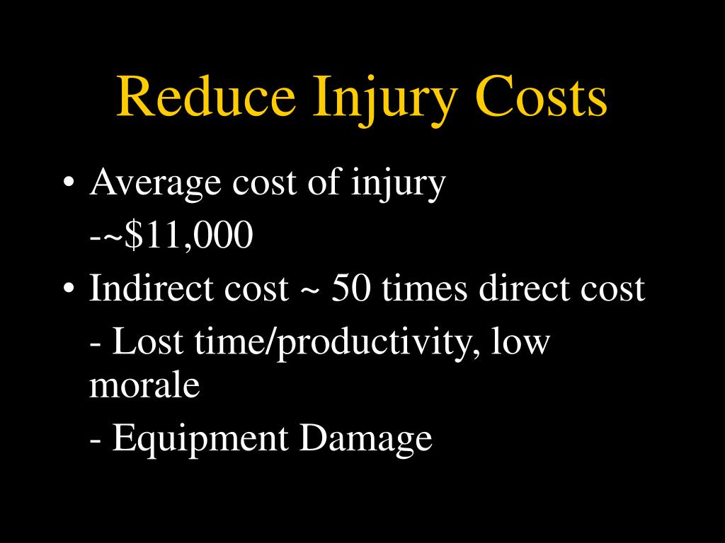 Reduce Injury Costs