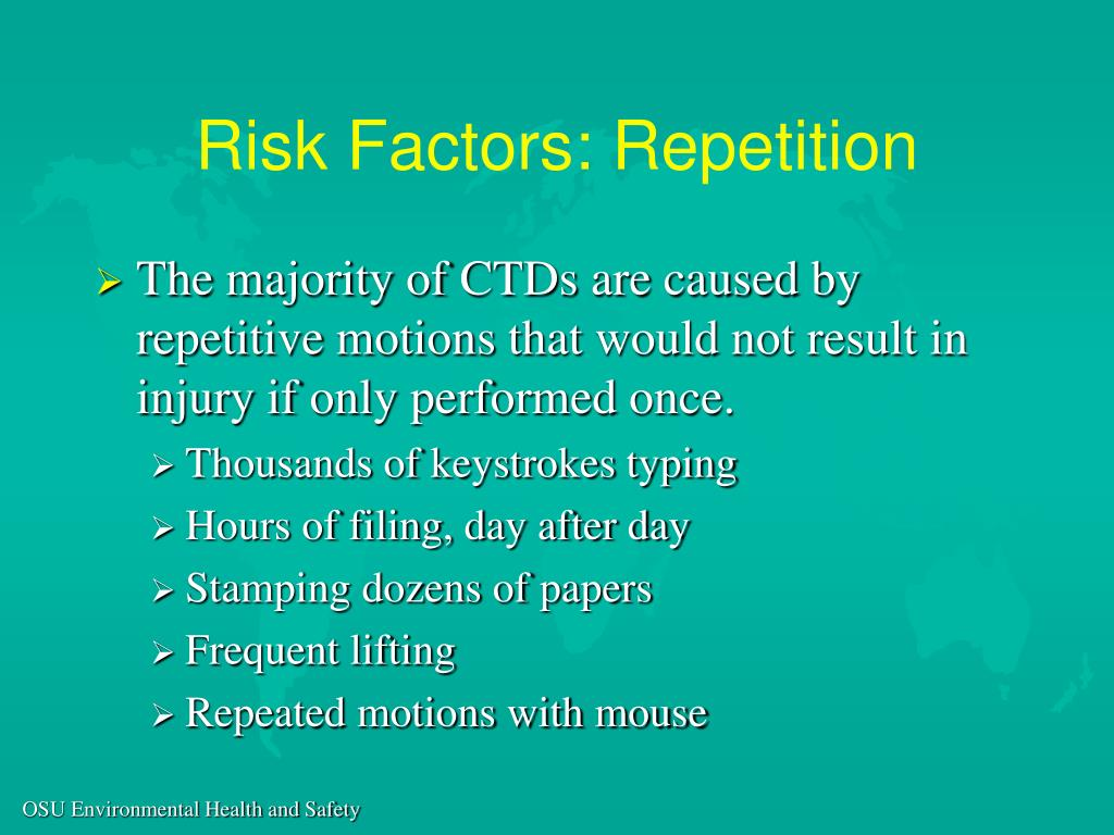 Risk Factors: Repetition