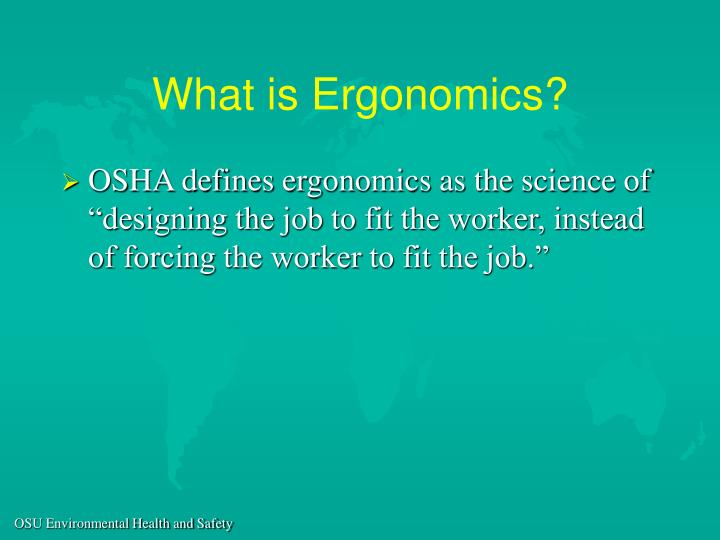 What is ergonomics3