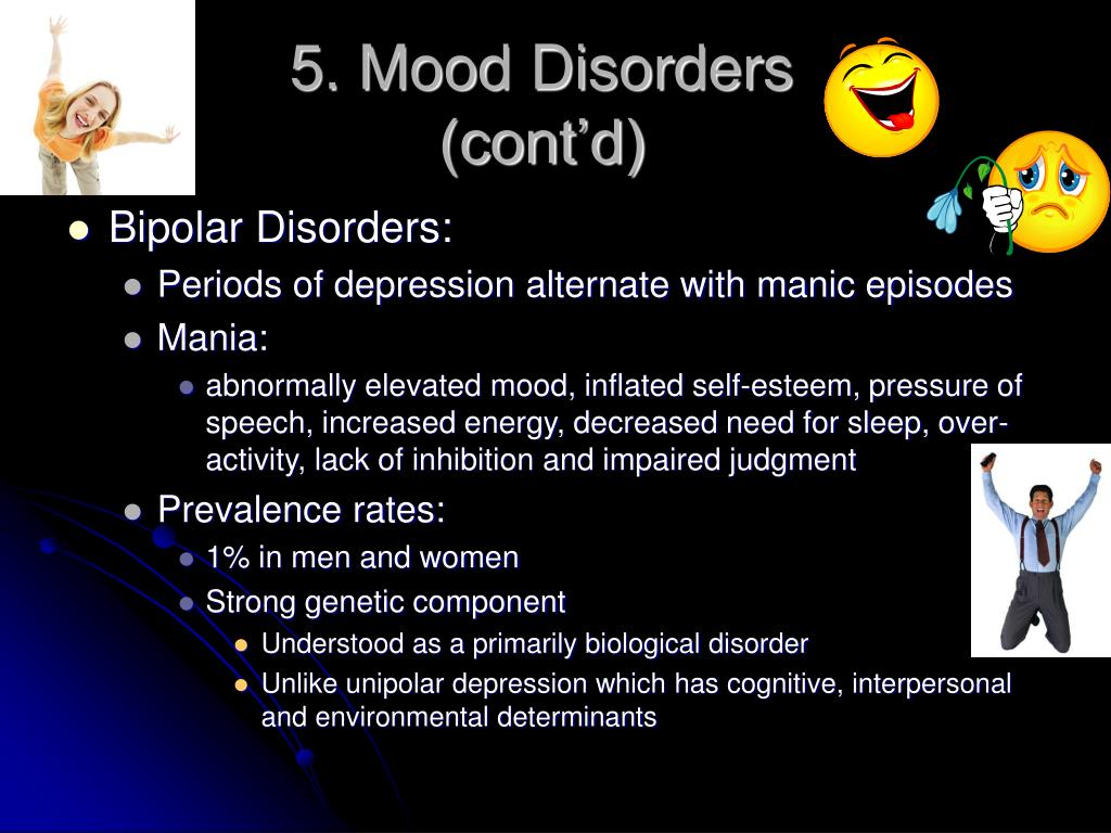 5. Mood Disorders (cont'd)