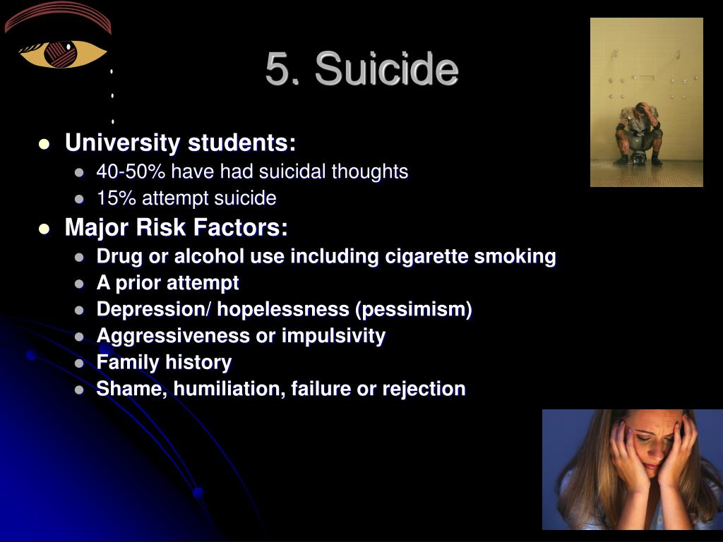 5. Suicide
