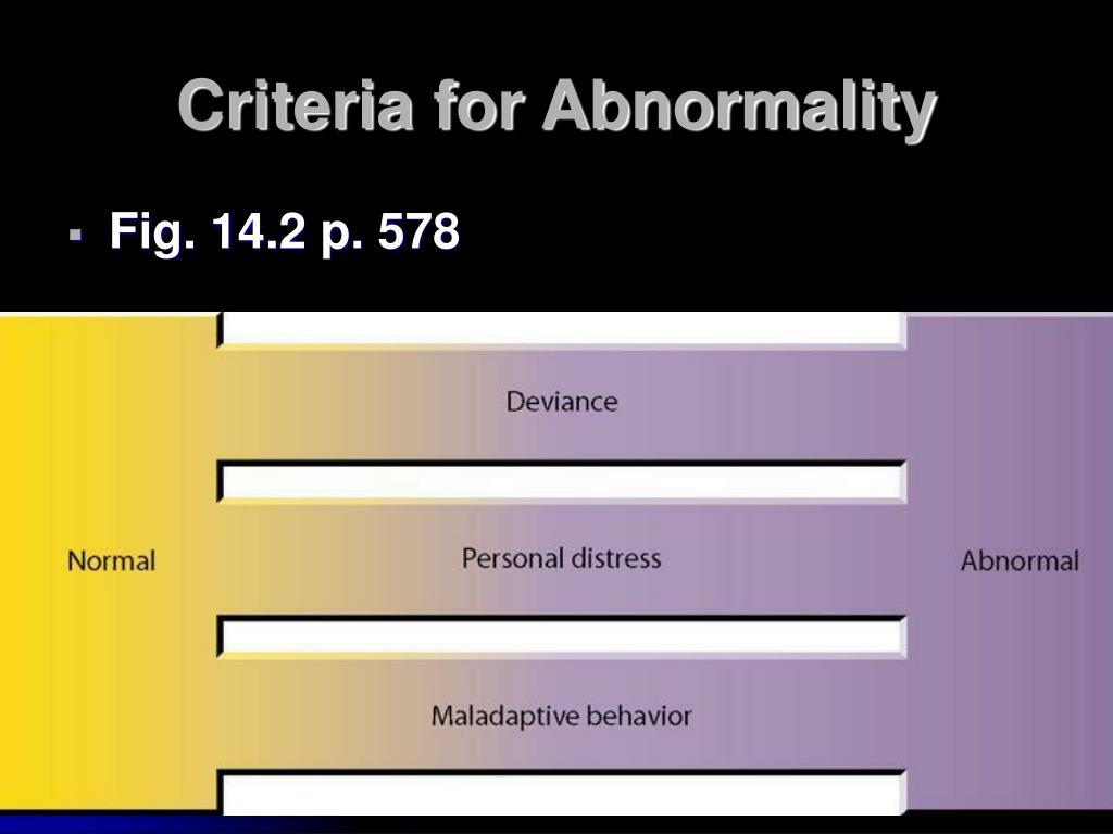 Criteria for Abnormality