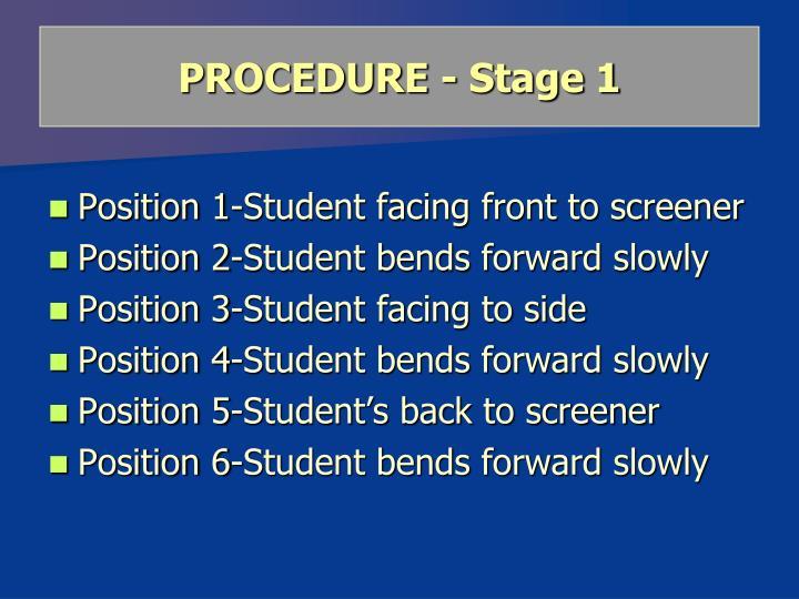 PROCEDURE - Stage 1