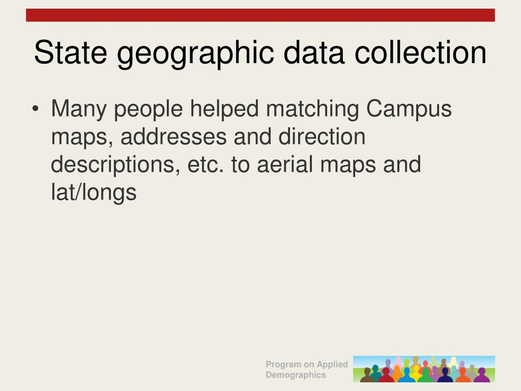 State geographic data collection