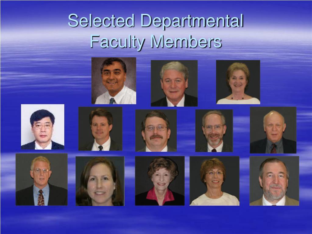 Selected Departmental