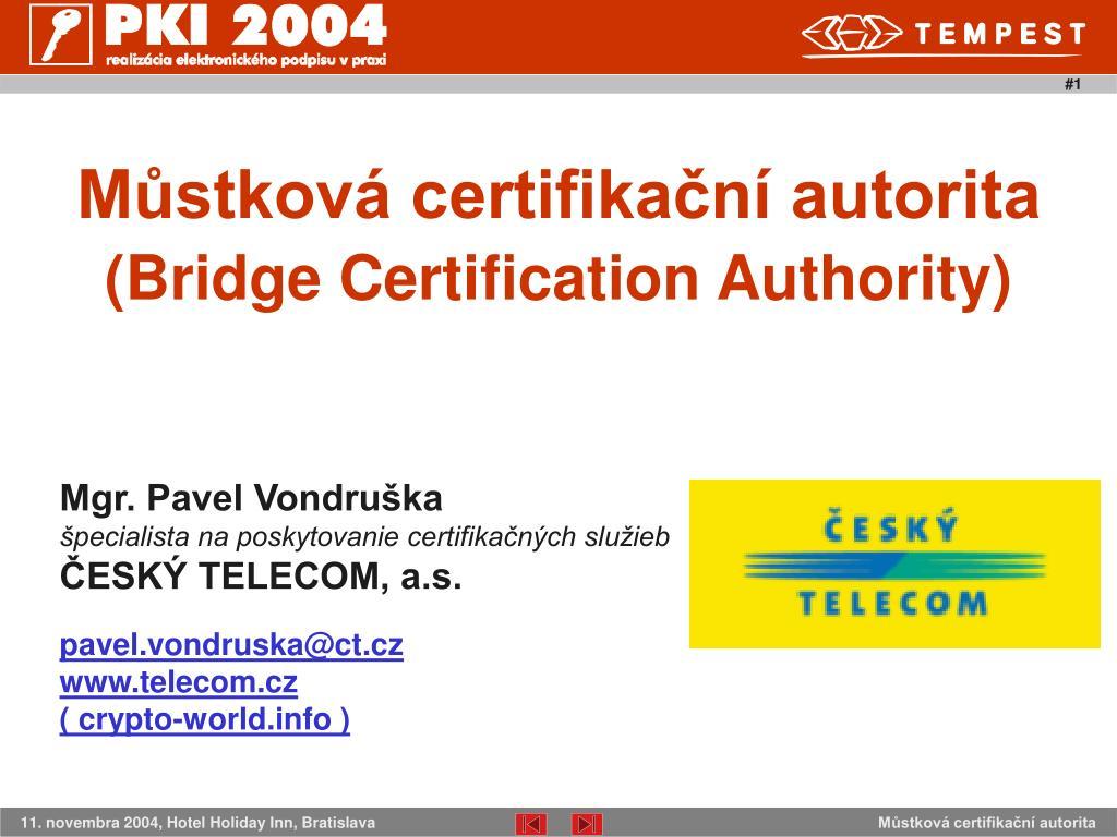 Můstková certifikační autorita