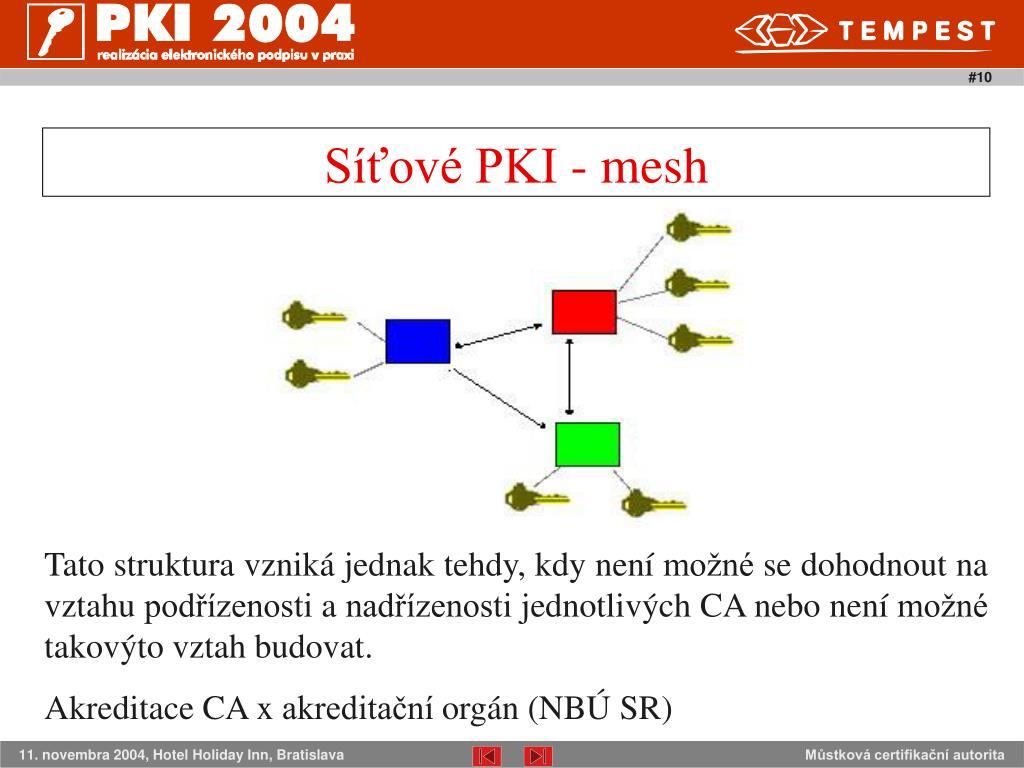 Síťové PKI - mesh
