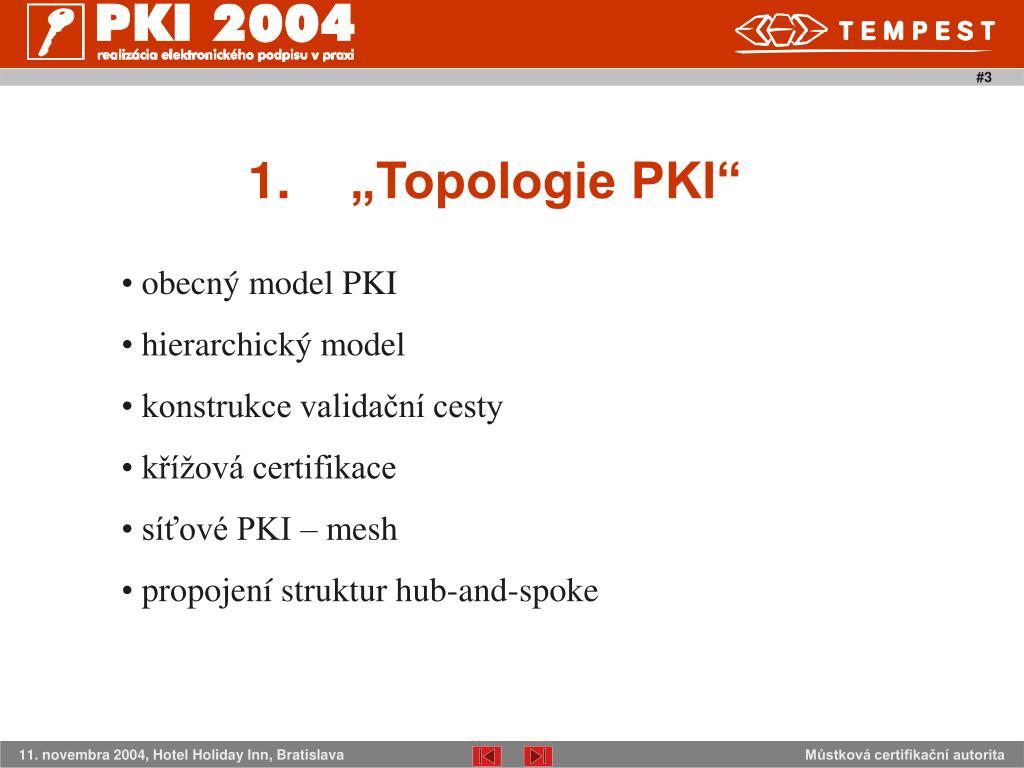 """1.""""Topologie PKI"""""""
