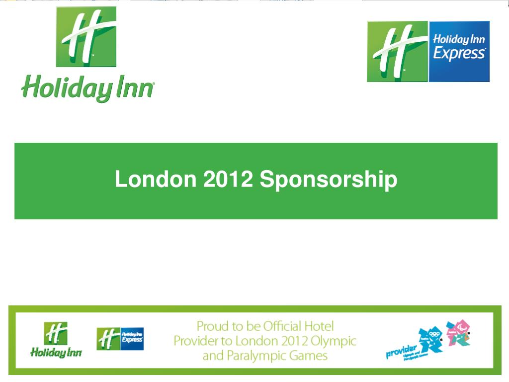 London 2012 Sponsorship