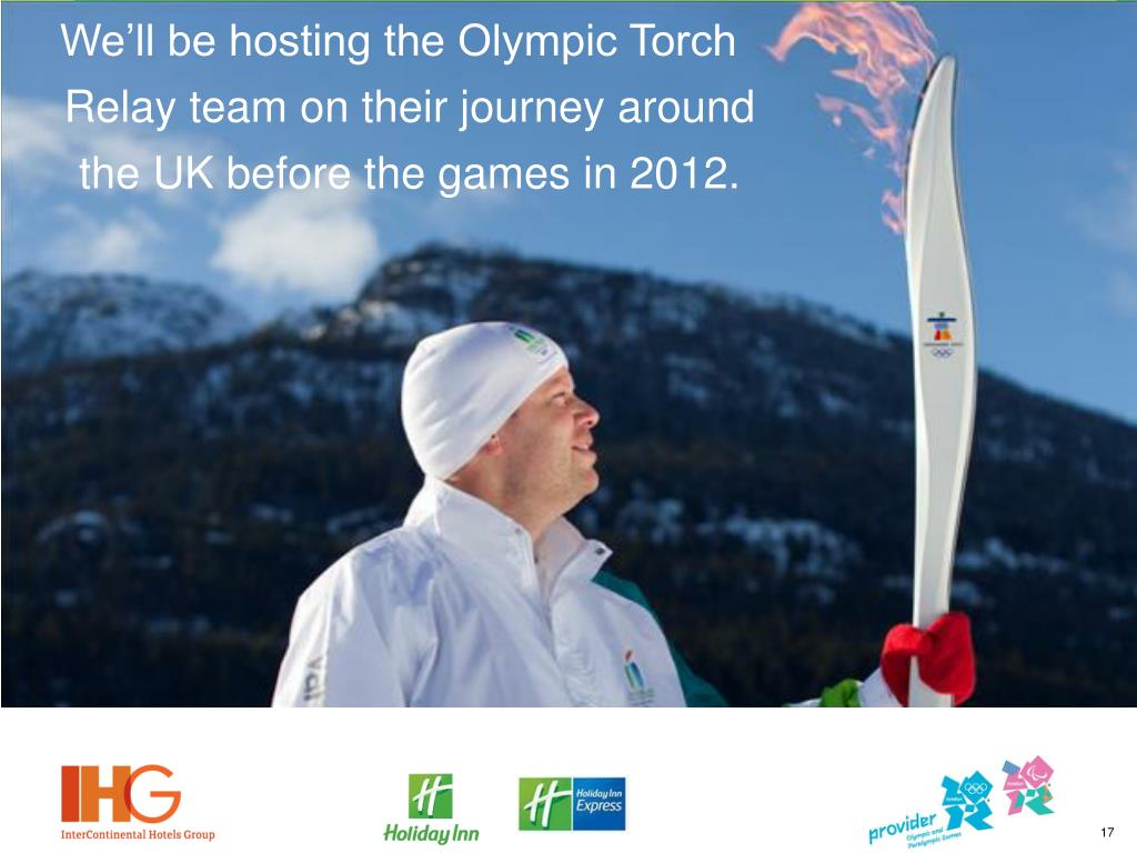 We'll be hosting the Olympic Torch Relay team on their journey around the UK before the games in 2012.